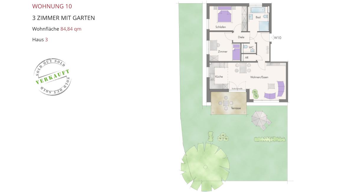 Wetzendorfer Sonnengärten - Wohnung 10