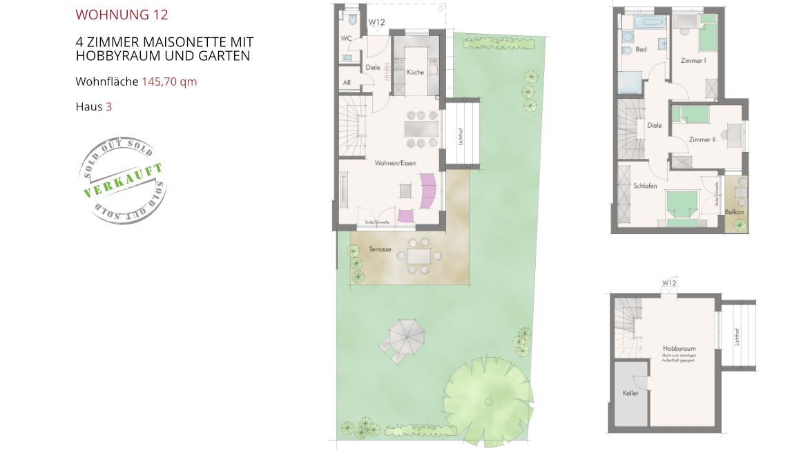 Wetzendorfer Sonnengärten - Wohnung 12