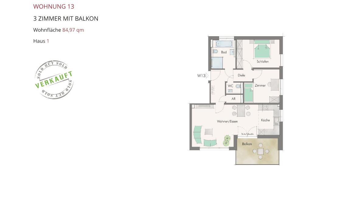 Wetzendorfer Sonnengärten - Wohnung 13