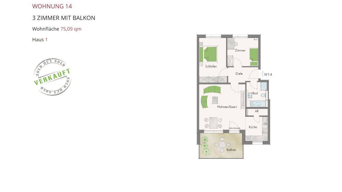 Wetzendorfer Sonnengärten - Wohnung 14