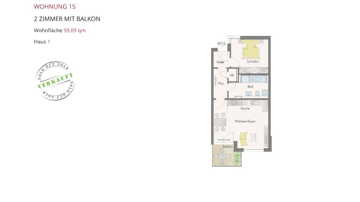 Wetzendorfer Sonnengärten - Wohnung 15