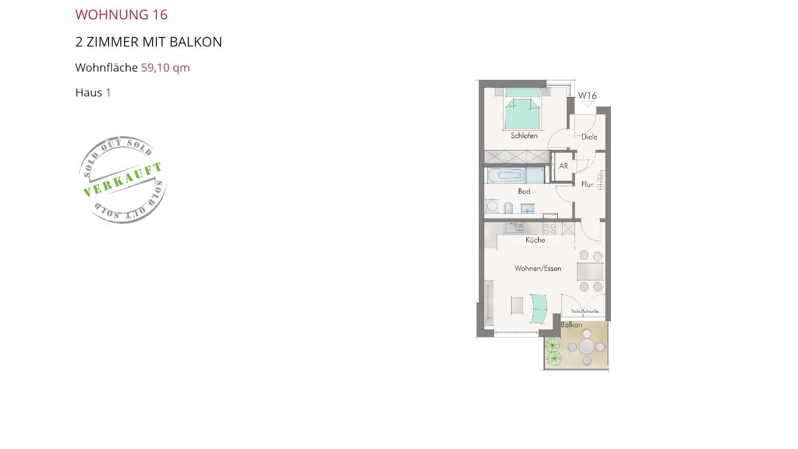 Wetzendorfer Sonnengärten - Wohnung 16