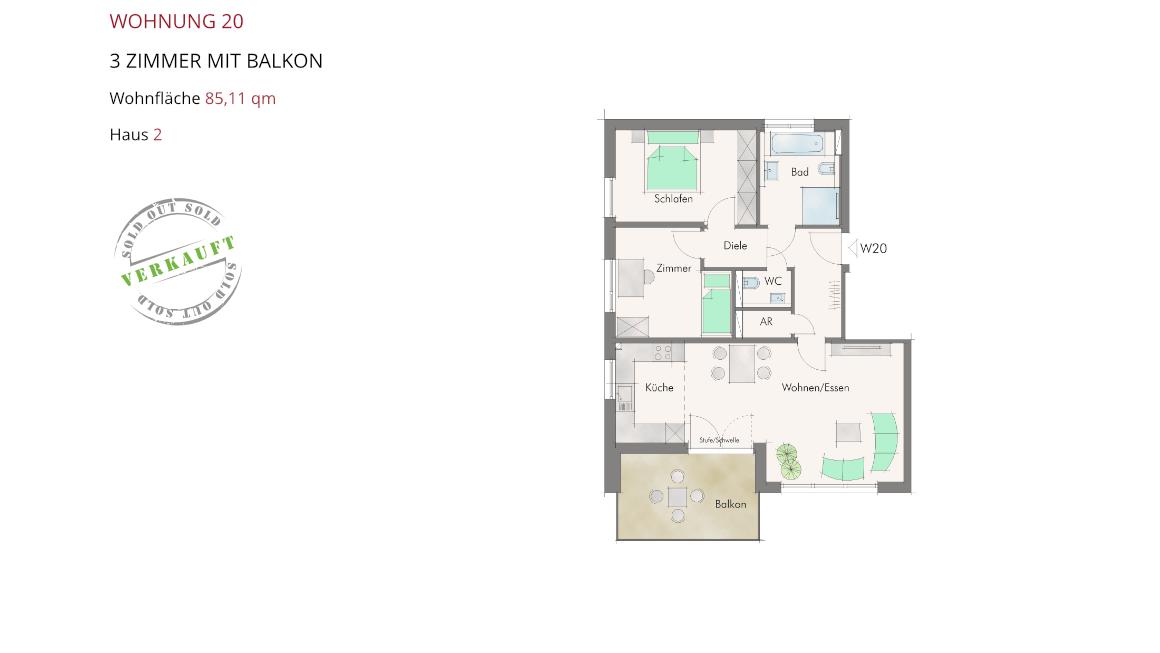 Wetzendorfer Sonnengärten - Wohnung 20