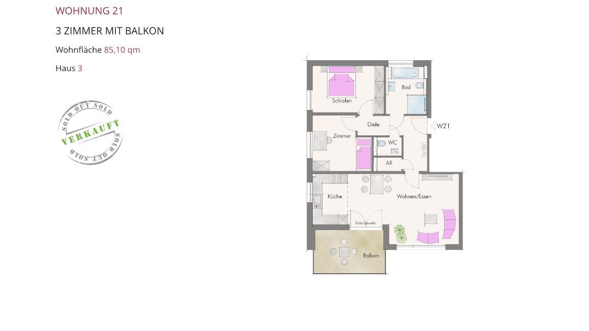 Wetzendorfer Sonnengärten - Wohnung 21