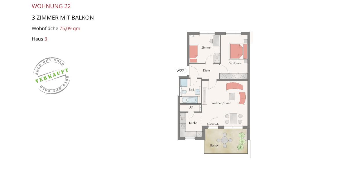 Wetzendorfer Sonnengärten - Wohnung 22