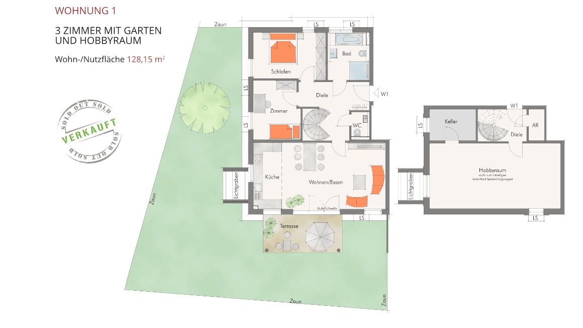 Sonnenblick in Katzwang - Wohnung 1
