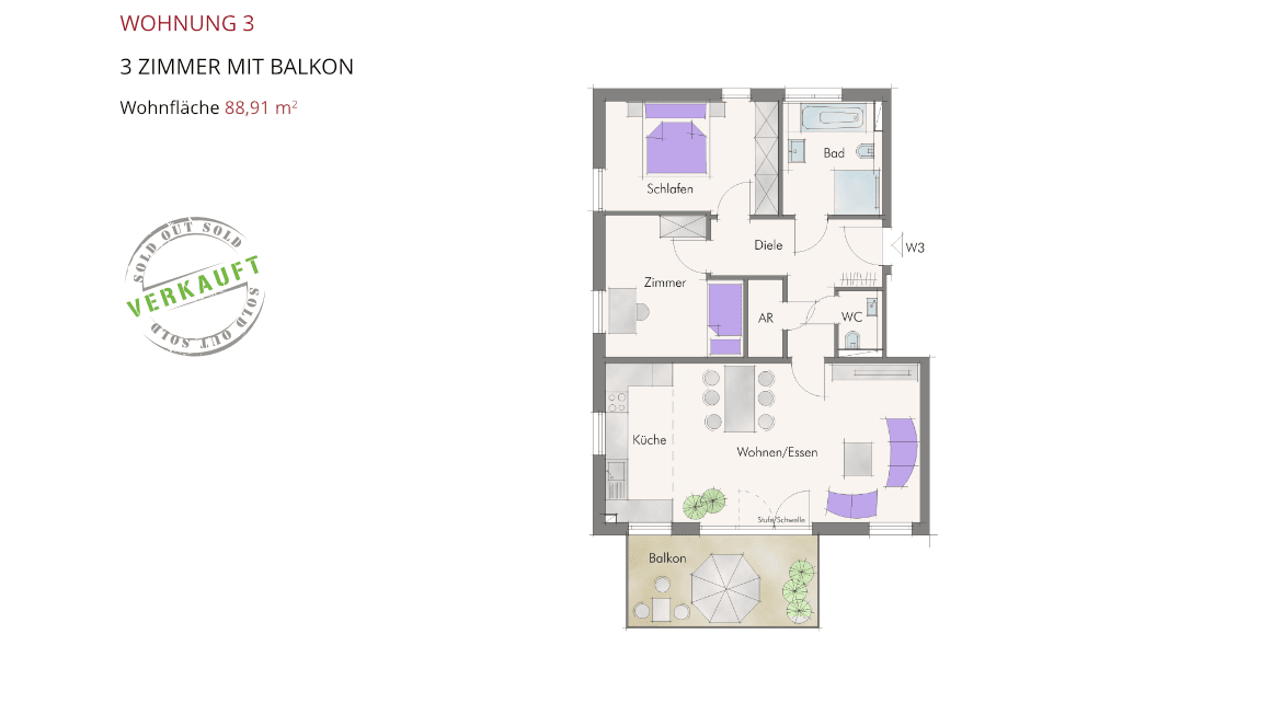 Sonnenblick in Katzwang - Wohnung 3