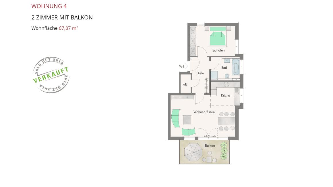 Sonnenblick in Katzwang - Wohnung 4